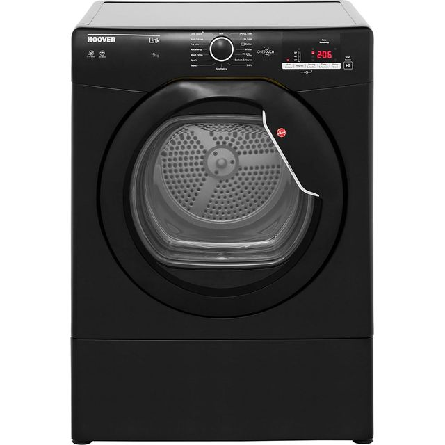 Hoover Link HLV9DGB 9Kg Vented Tumble Dryer - Black - C Rated