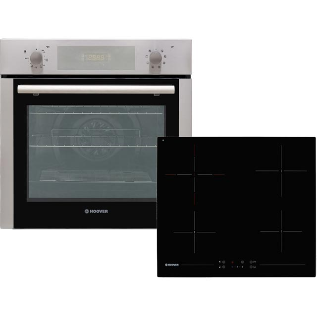 Hoover HPKCER60X/E Built In Electric Single Oven and Ceramic Hob Pack - Stainless Steel - A Rated - HPKCER60X/E_SS - 1