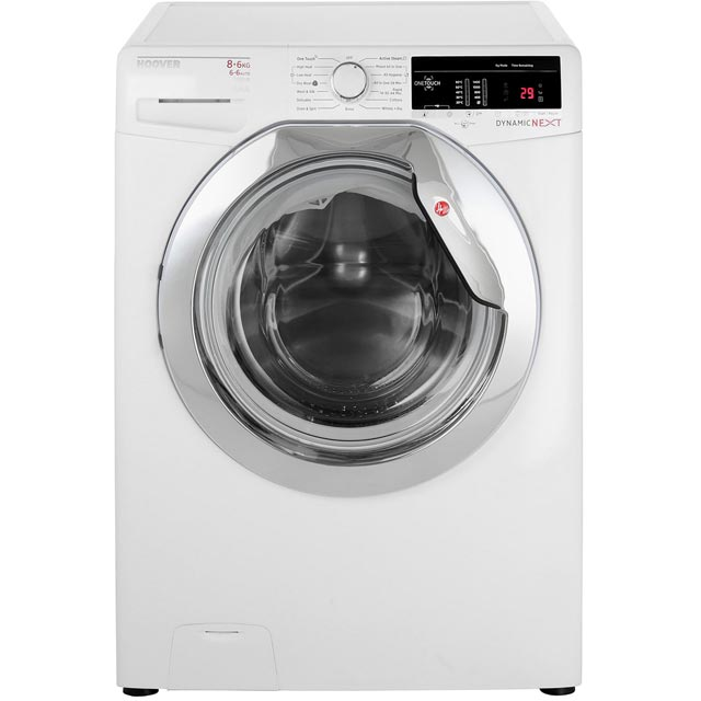 Hoover Dynamic Next WDXOA486AC 8Kg / 6Kg Washer Dryer with 1400 rpm - White / Chrome - A Rated