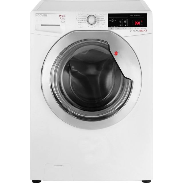 Hoover Dynamic Next WDXOA496C 9Kg / 6Kg Washer Dryer with 1400 rpm - White / Chrome - A Rated