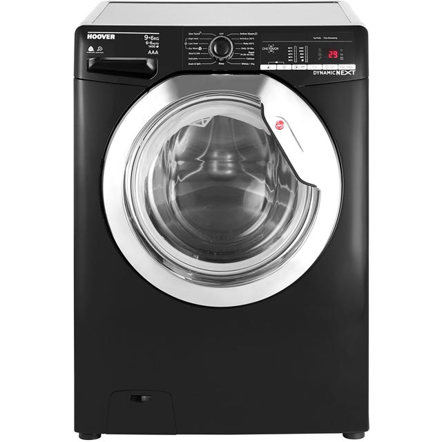 Hoover Dynamic Next WDXOA496CB 9Kg / 6Kg Washer Dryer - Black - WDXOA496CB_BK - 1