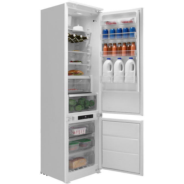 Hotpoint Day 1 BCB8020AAFC Extra Tall Integrated 70/30 Frost Free Fridge Freezer with Sliding Door Fixing Kit - White - A+ Rated