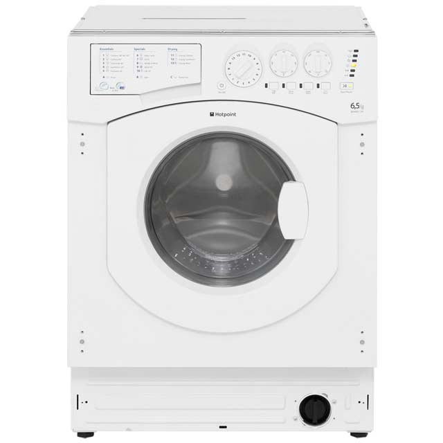 Hotpoint Aquarius BHWD129 Integrated 6Kg / 5Kg Washer Dryer with 1200 rpm - B Rated - BHWD129_WH - 1
