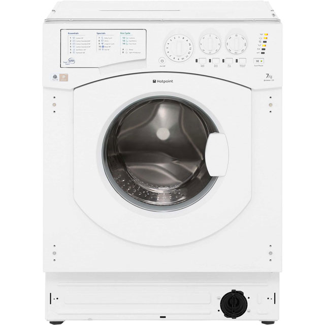 Hotpoint BHWM1292 Integrated 7Kg Washing Machine with 1200 rpm Best Price, Cheapest Prices