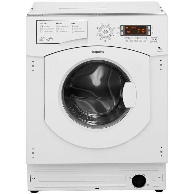 Hotpoint Ultima BHWMD732 Integrated 7Kg Washing Machine with 1300 rpm - A++ Rated