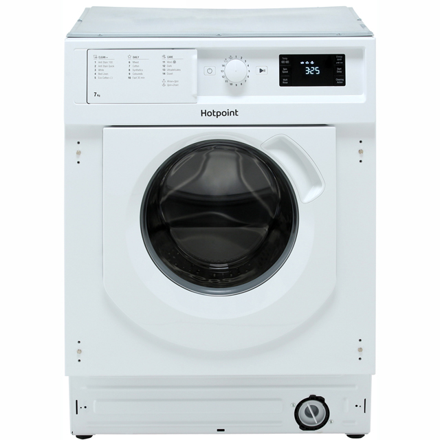 Hotpoint BIWMHG71284 Integrated 7Kg Washing Machine with 1200 rpm - A+++ Rated - BIWMHG71284_WH - 1