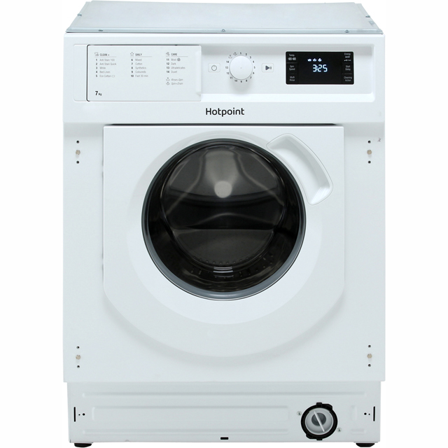 Hotpoint BIWMHG71484 Integrated 7Kg Washing Machine with 1400 rpm - A+++ Rated - BIWMHG71484_WH - 1