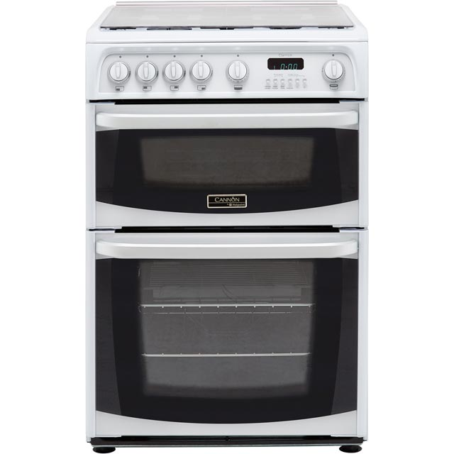Cannon by Hotpoint CH60GCIW 60cm Gas Cooker with Variable Gas Grill - White - A+/A Rated