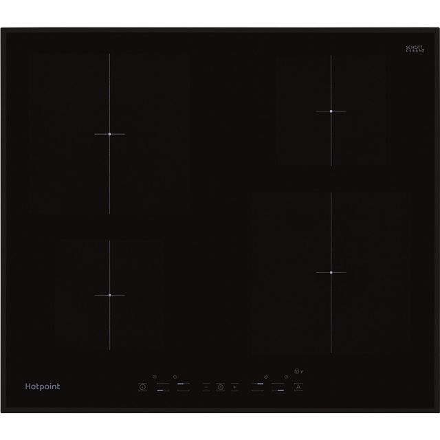 Hotpoint Newstyle CIA640B Integrated Electric Hob in Black/Black Gloss