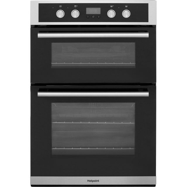 Hotpoint Class 2 DD2844CIX Built In Double Oven - Stainless Steel - A/A Rated - DD2844CIX_SS - 1