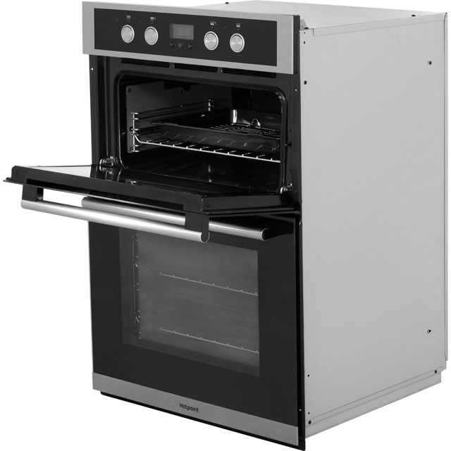 Hotpoint Class 2 DD2844CIX Built In Electric Double Oven - Stainless Steel - DD2844CIX_SS - 3