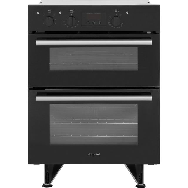 Hotpoint Class 2 DU2540BL Built Under Double Oven With Feet - Black - A/A Rated - DU2540BL_BK - 1
