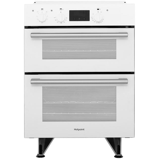 Hotpoint Class 2 DU2540WH Built Under Double Oven With Feet - White - B Rated - DU2540WH_WH - 1