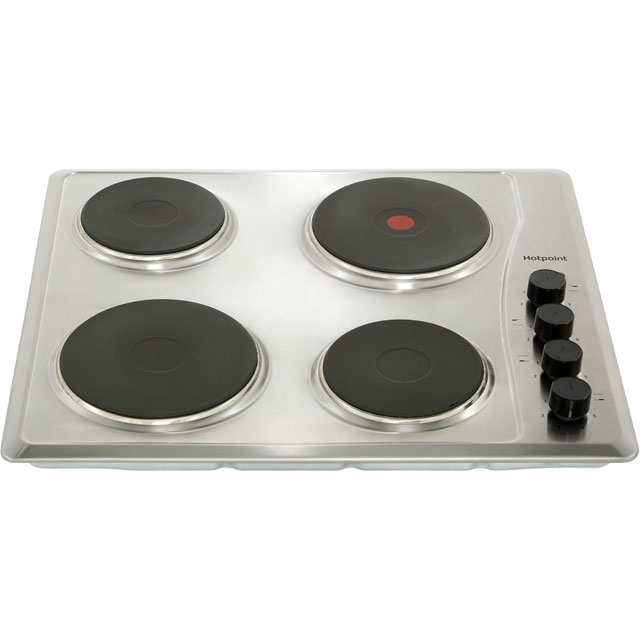 Hotpoint E604.1X Built In Solid Plate Hob - Stainless Steel - E604.1X_SS - 3