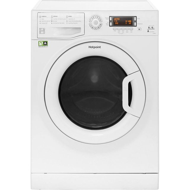 Hotpoint Ultima FDD9640P Free Standing Washer Dryer in White