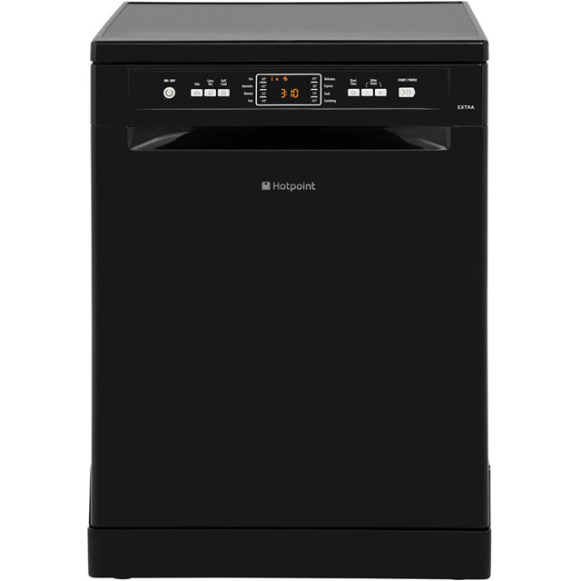 Hotpoint Extra FDFEX11011K Standard Dishwasher - Black Best Price, Cheapest Prices