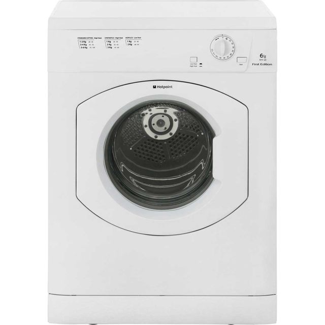 Hotpoint First Edition FETV60CP Free Standing Vented Tumble Dryer in White