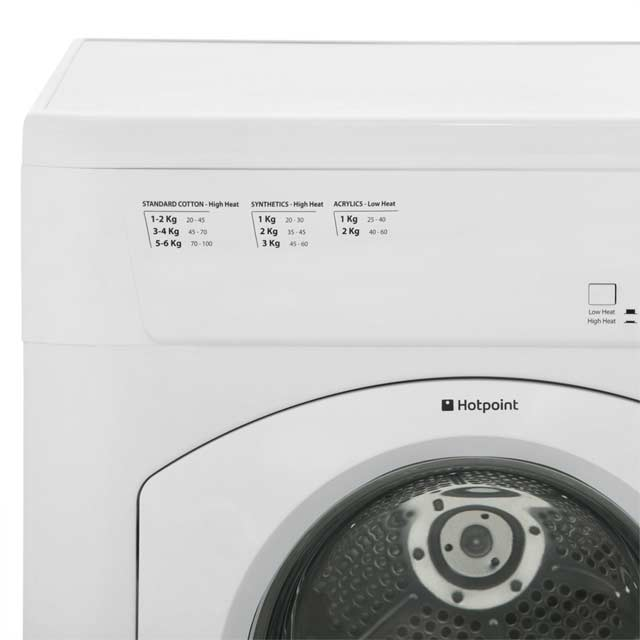 Hotpoint First Edition FETV60CP Vented Tumble Dryer - White - FETV60CP_WH - 3