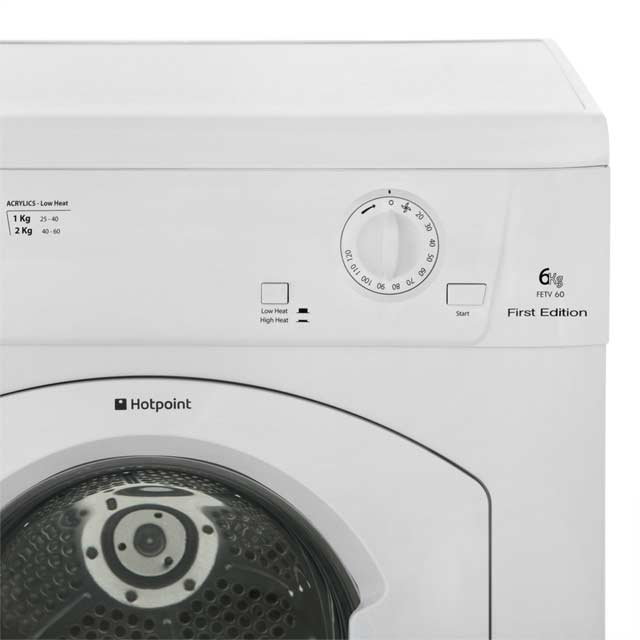 Hotpoint First Edition FETV60CP Vented Tumble Dryer - White - FETV60CP_WH - 4