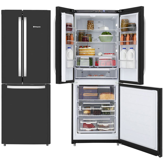 Hotpoint Day 1 60/40 Frost Free Fridge Freezer - Black - A+ Rated