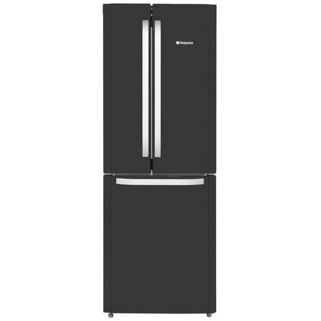 Hotpoint Day1 FFU3D.1K 60/40 Frost Free Fridge Freezer - Black - A+ Rated Best Price, Cheapest Prices