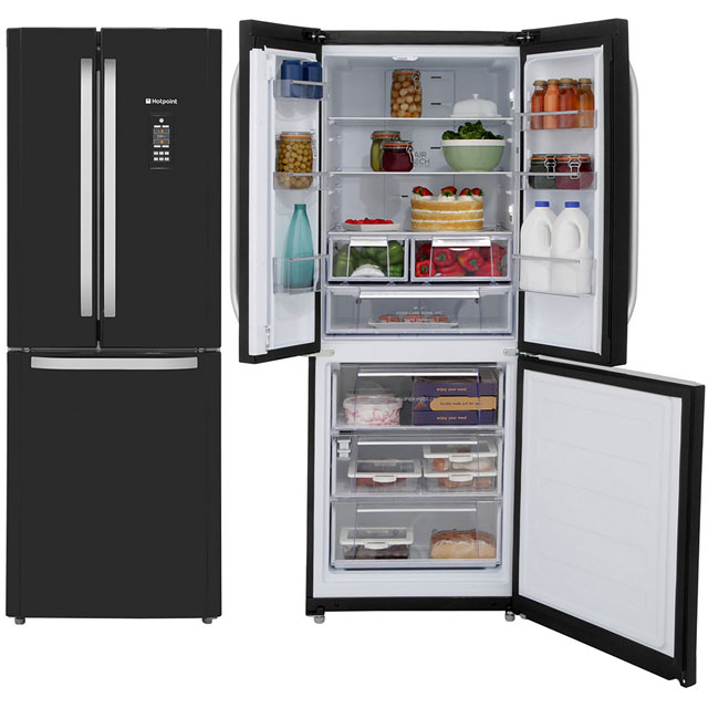 Hotpoint Trio 60/40 Frost Free Fridge Freezer - Black - A+ Rated