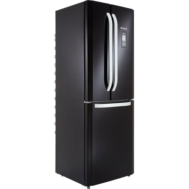 Hotpoint Day1 FFU3DG.1K 60/40 Frost Free Fridge Freezer - Black - A+ Rated Best Price, Cheapest Prices