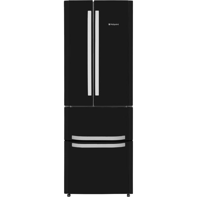 Hotpoint Day1 FFU4D.1K 60/40 Frost Free Fridge Freezer - Black - A+ Rated - FFU4D.1K_BK - 1