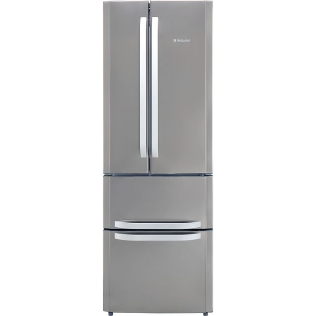 Hotpoint Day1 FFU4D.1X 60/40 Frost Free Fridge Freezer - Stainless Steel - A+ Rated - FFU4D.1X_SS - 1
