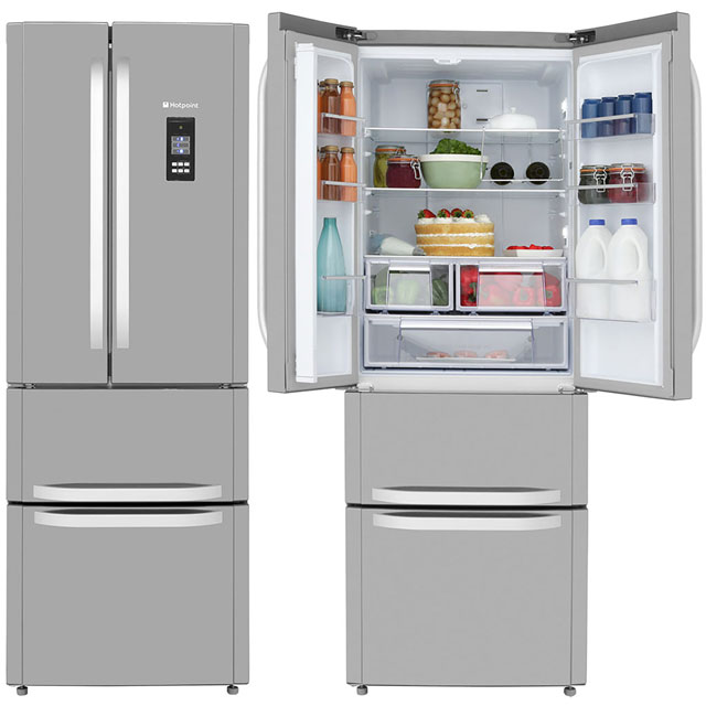 Hotpoint Day 1 FFU4DG.1XMTZ American Fridge Freezer - Stainless Steel - A+ Rated - FFU4DG.1XMTZ_SS - 1