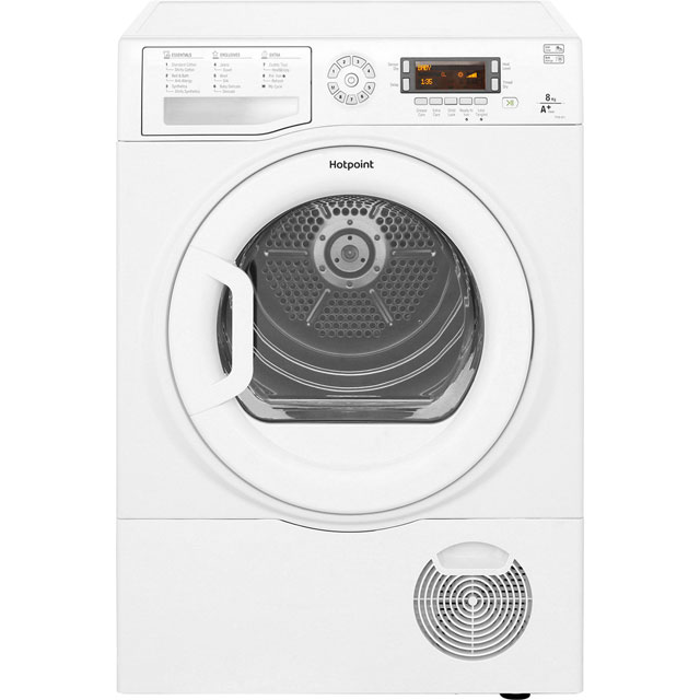 Hotpoint FTCD871GPY Free Standing Condenser Tumble Dryer in White