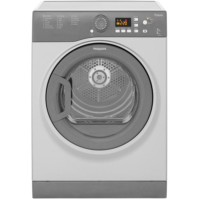 Hotpoint FTVFG65BGG 6Kg Vented Tumble Dryer - Graphite - B Rated