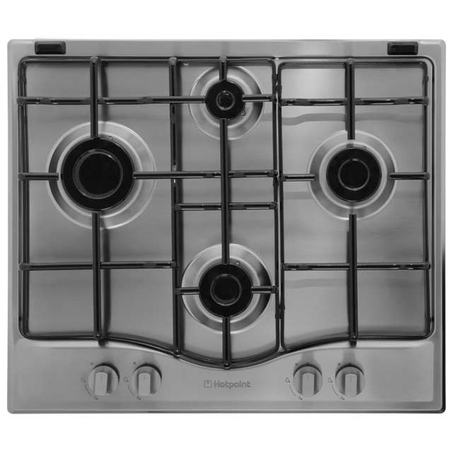 Product image for Hotpoint GC640IX 59cm Gas Hob - Stainless Steel