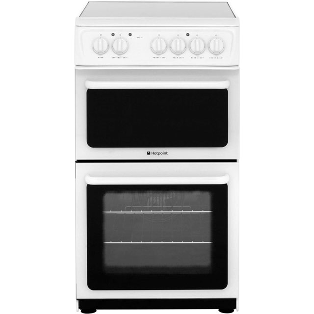 Hotpoint Electric Cooker with Ceramic Hob - White - B Rated