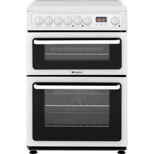 Hotpoint Newstyle HAE60PS Electric Cooker with Ceramic Hob - White - B/B Rated - HAE60PS_WH - 1