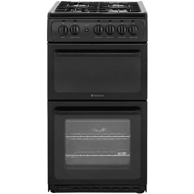Hotpoint HAG51K Gas Cooker with Variable Gas Grill - Black