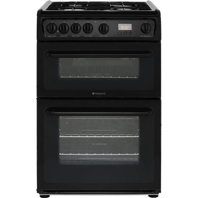 Product image for Hotpoint HAG60K Gas Cooker Black