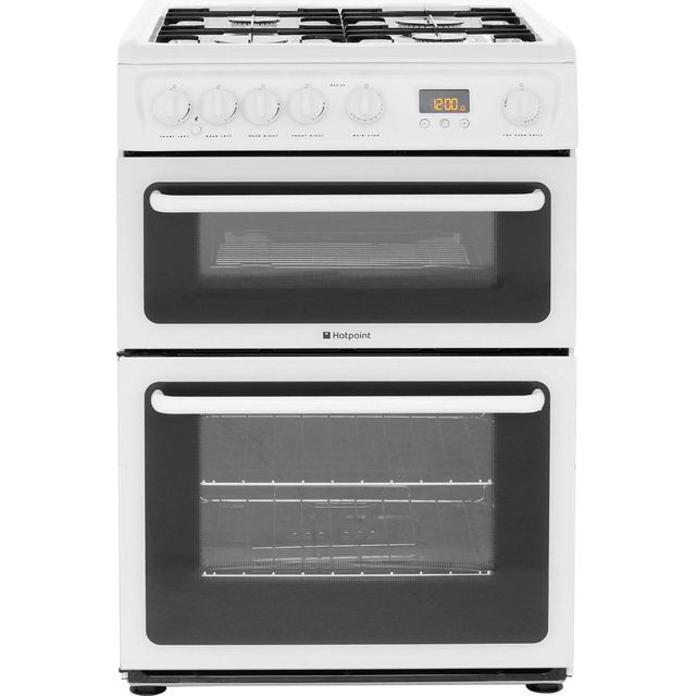 Hotpoint HAG60P Gas Cooker with Gas Grill - Polar White