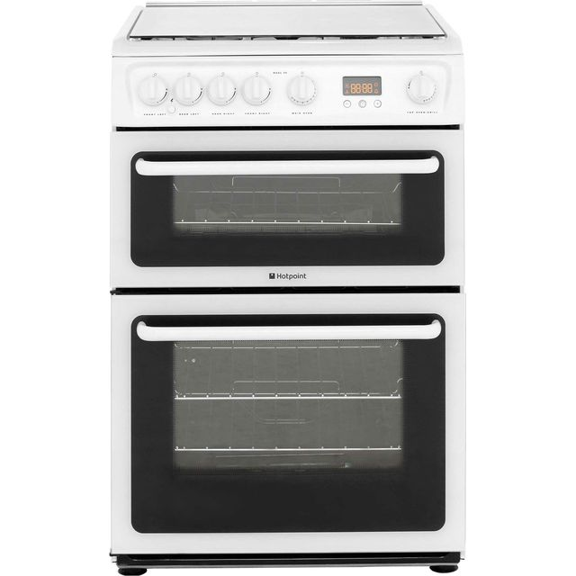 Hotpoint HAGL60P 60cm Gas Cooker - White - A+/A Rated - HAGL60P_WH - 1