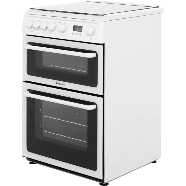 Hotpoint HAGL60P Gas Cooker - White - HAGL60P_WH - 2