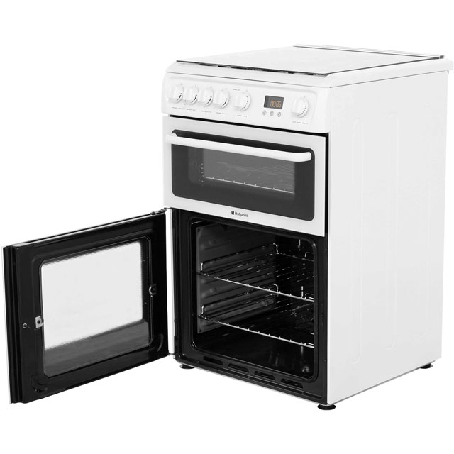 Hotpoint HAGL60P Gas Cooker - White - HAGL60P_WH - 4