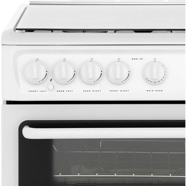 Hotpoint HAGL60P Gas Cooker - White - HAGL60P_WH - 5