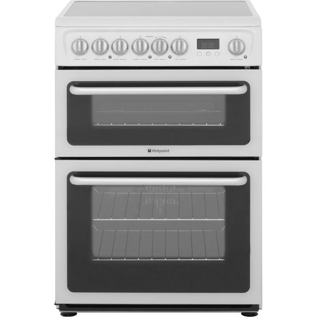 Hotpoint HARE60P 60cm Electric Cooker with Ceramic Hob - White - B/ B Rated - HARE60P_WH - 1