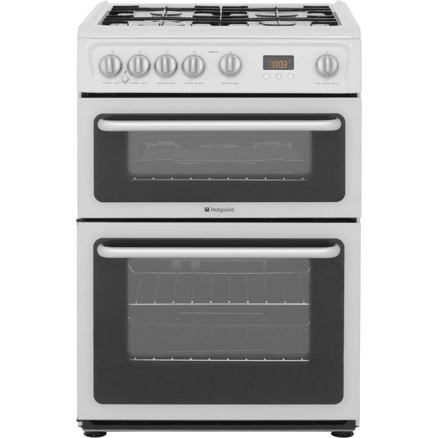 Hotpoint Newstyle HARG60P 60cm Gas Cooker with Variable Gas Grill - White - A+/A Rated - HARG60P_WH - 1