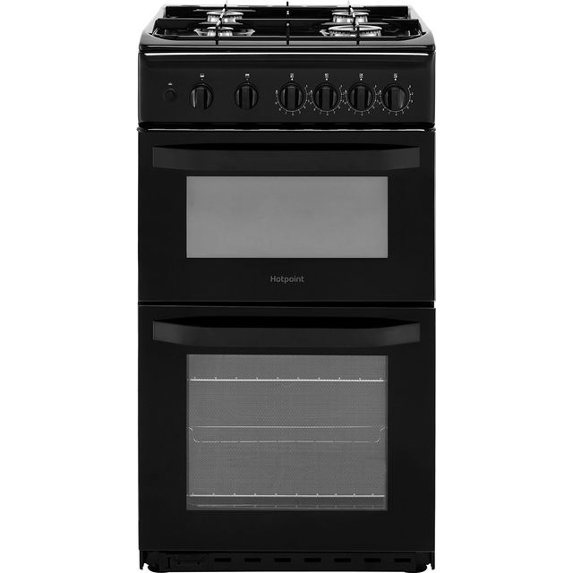 Hotpoint Cloe HD5G00KCB Gas Cooker - Black - HD5G00KCB_BK - 1