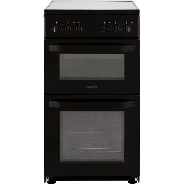 Hotpoint Cloe HD5V92KCB 50cm Electric Cooker with Ceramic Hob - Black - A Rated - HD5V92KCB_BK - 1