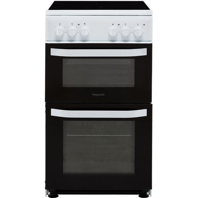 Hotpoint Cloe HD5V92KCW 50cm Electric Cooker with Ceramic Hob - White - A Rated - HD5V92KCW_WH - 1