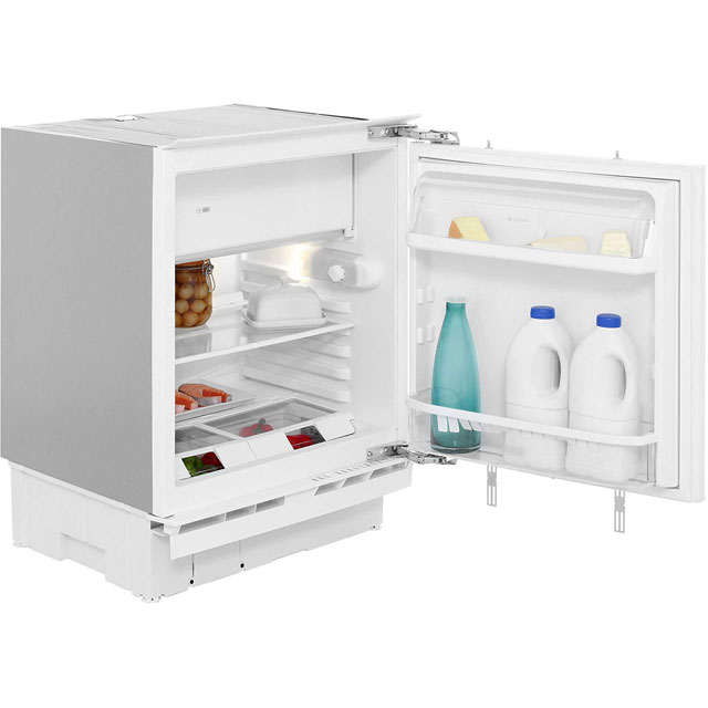 Hotpoint Aquarius HFA1.1 Integrated Under Counter Fridge with Ice Box - Fixed Door Fixing Kit - White - A+ Rated - HFA1.1_WH - 1