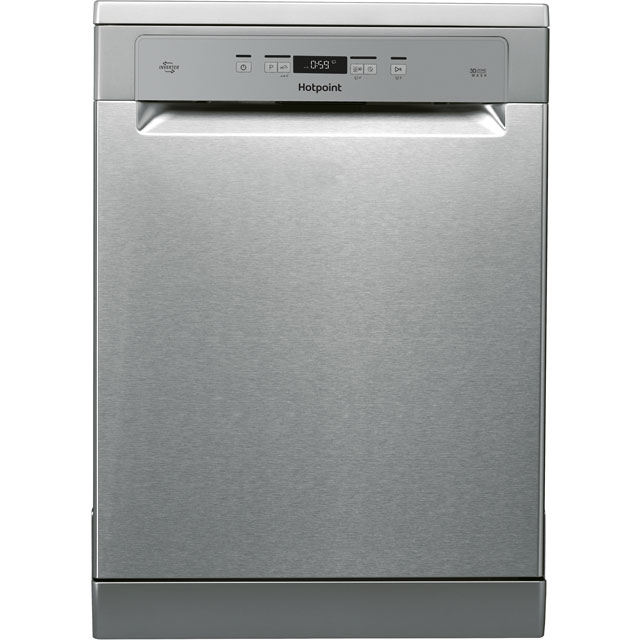 Hotpoint HFO3T222WGX Standard Dishwasher - Stainless Steel - A++ Rated Best Price, Cheapest Prices