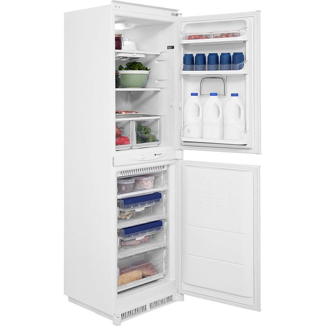 Hotpoint Aquarius HM325FF2.1 Integrated 50/50 Frost Free Fridge Freezer with Sliding Door Fixing Kit - White - A+ Rated - HM325FF2.1_WH - 1